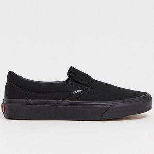 Vans Classic Slip-On Black Skate Shoes Men Size 8